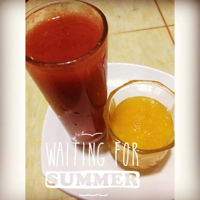 鲜榨芒果汁,聖女果汁🍅,純🍹果汁