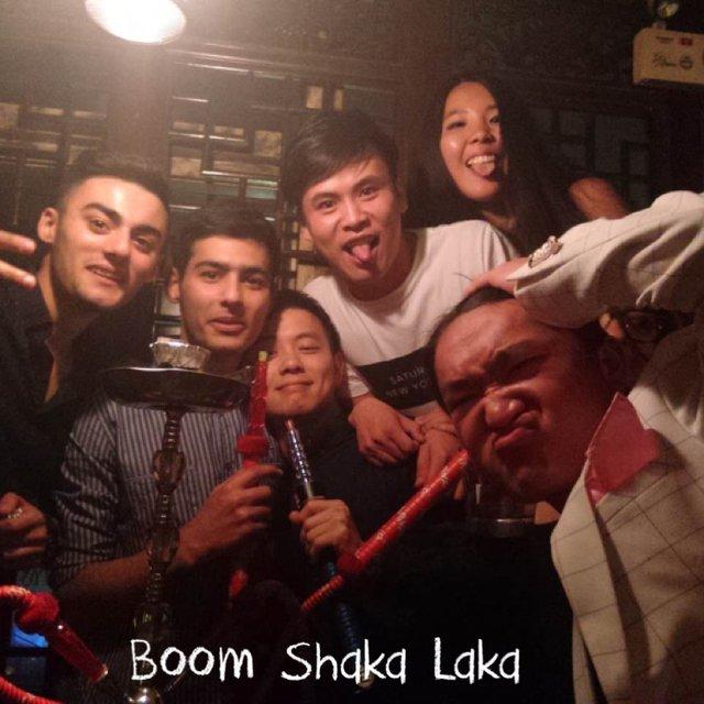 水烟,外国人,嗨起来,happy friday,shanghai night