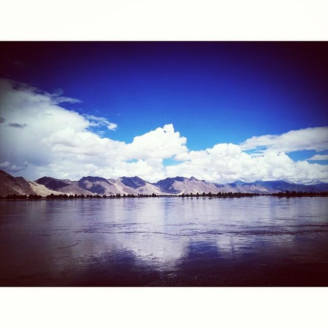 好天气,手机摄影,雅鲁藏布江