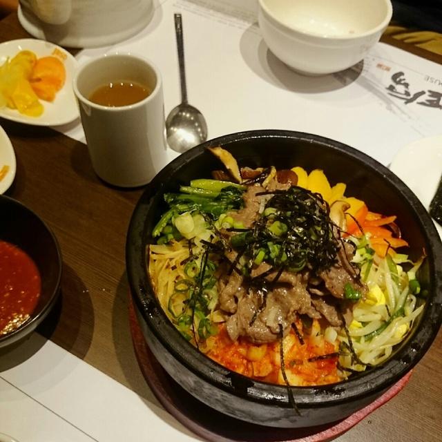 台灣,涓豆腐,石锅伴饭,麥茶,晚餐