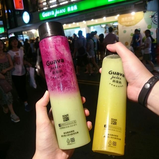 台灣,橙香芭樂,Guava Juice 芭樂芭,芭樂紅龍果,中原夜市