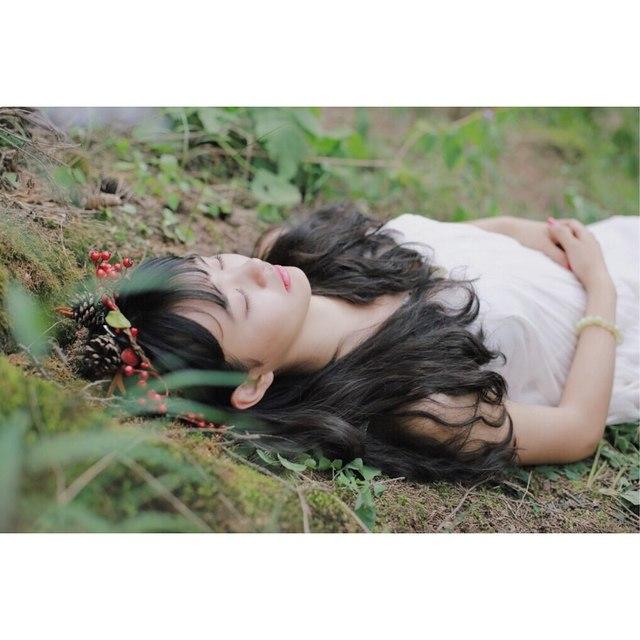 单反摄影,森林系,少女情怀总是诗,林向量