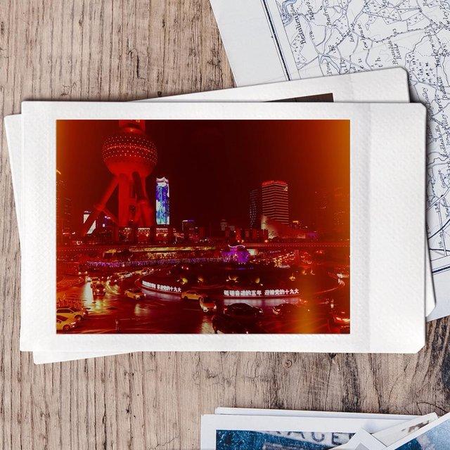 Polaroid,COLOR,shanghai,night,CITYLIFE