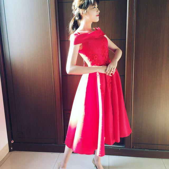 广州,你好,小红裙
