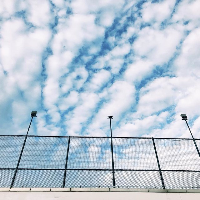 蓝天白云,好天气