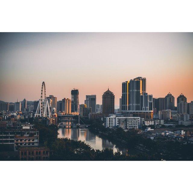 这是我的城市,天空,中山市,nice摄影,日落黄昏