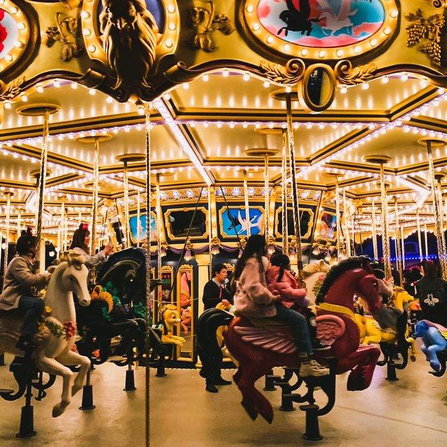 旋转木马,游乐场,旅行是我的解药