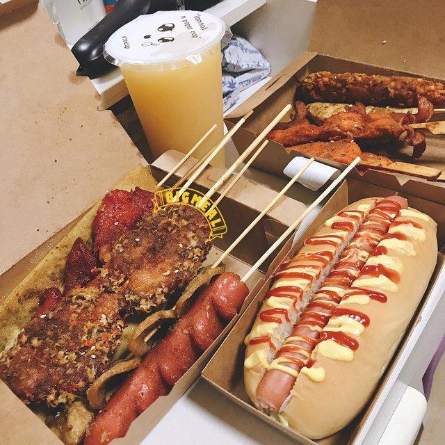 热狗,烧烤,喜欢请点赞,唯有美食与爱不可辜负,这个我先替你吃了