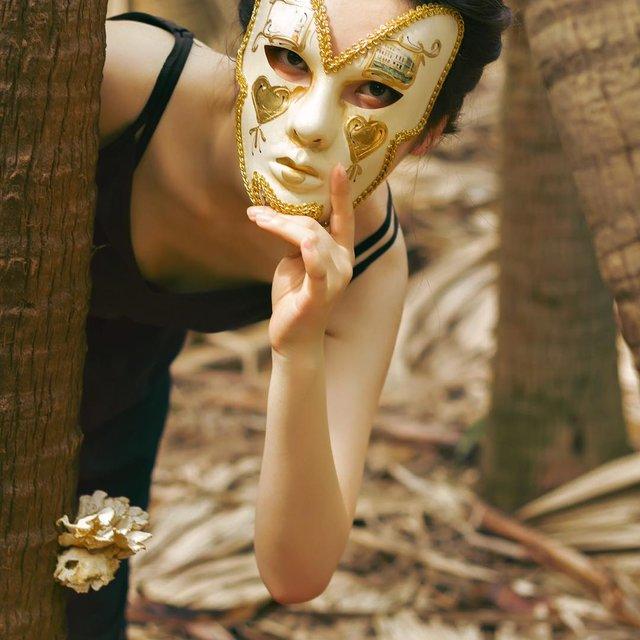 面具,人像摄影,喜欢请点赞,中山约拍,江门约拍