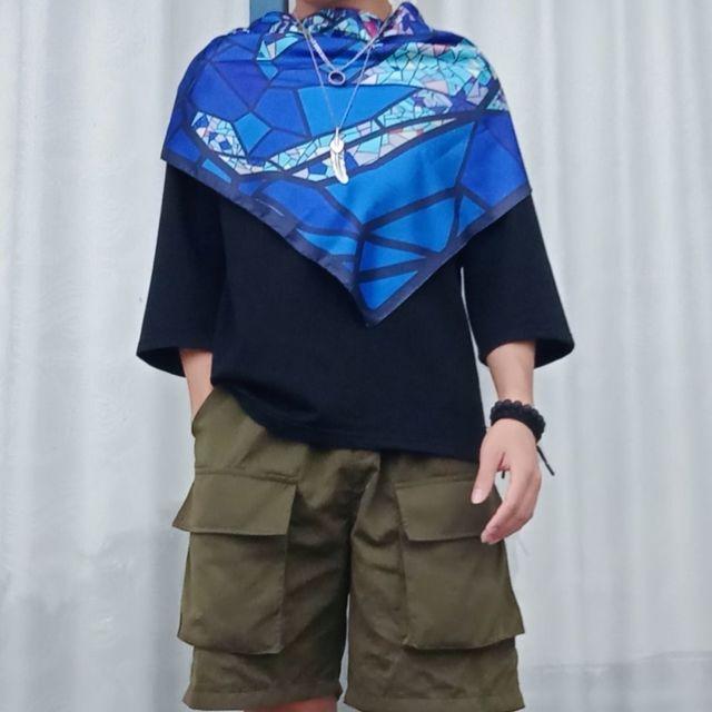 丝巾设计,今天穿这样,🗻