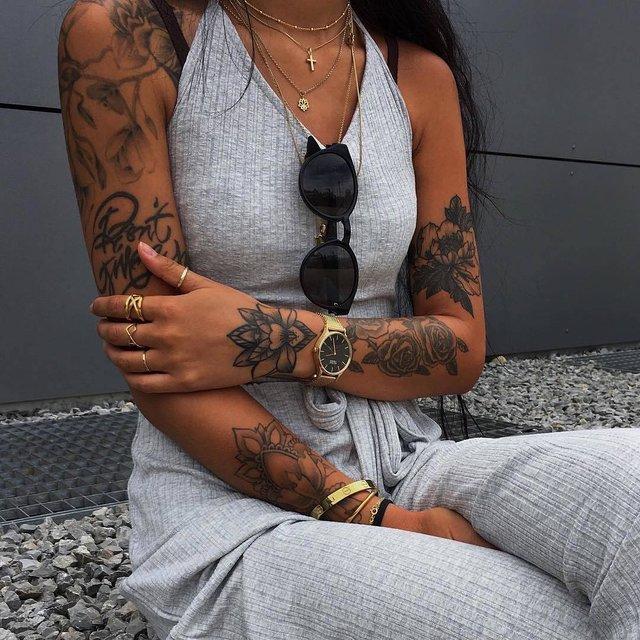 爱纹身,花臂控,欧美范