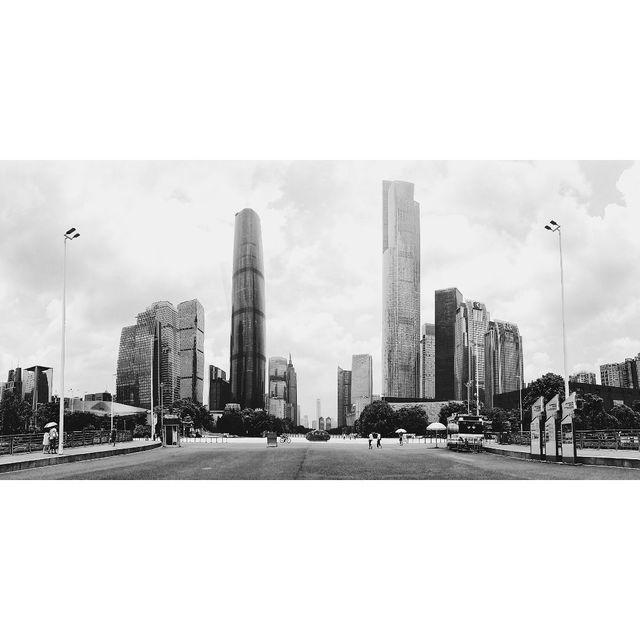 广州,花城广场,手机摄影,黑白系,摄影师Agent P