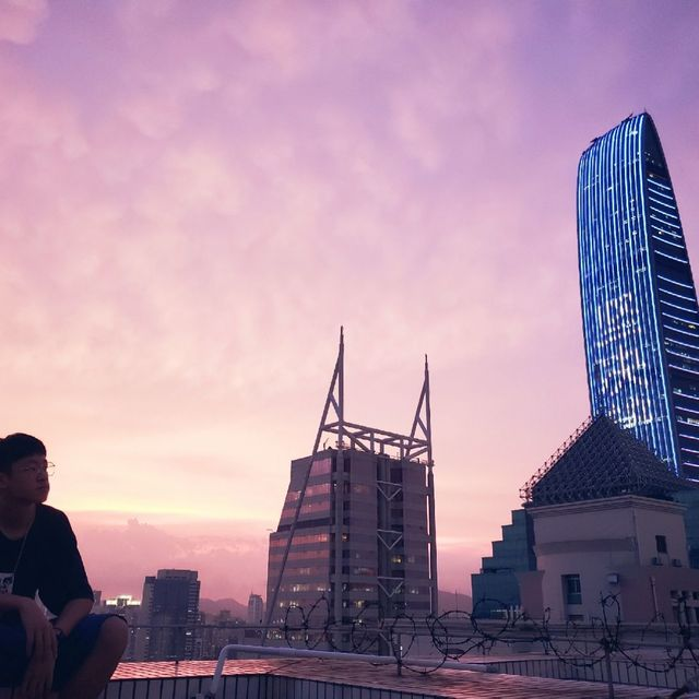 monk-x,深圳,日落黄昏