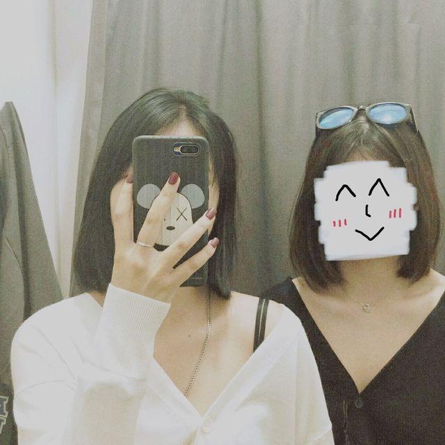 试衣间,遮脸,镜子控,短发控